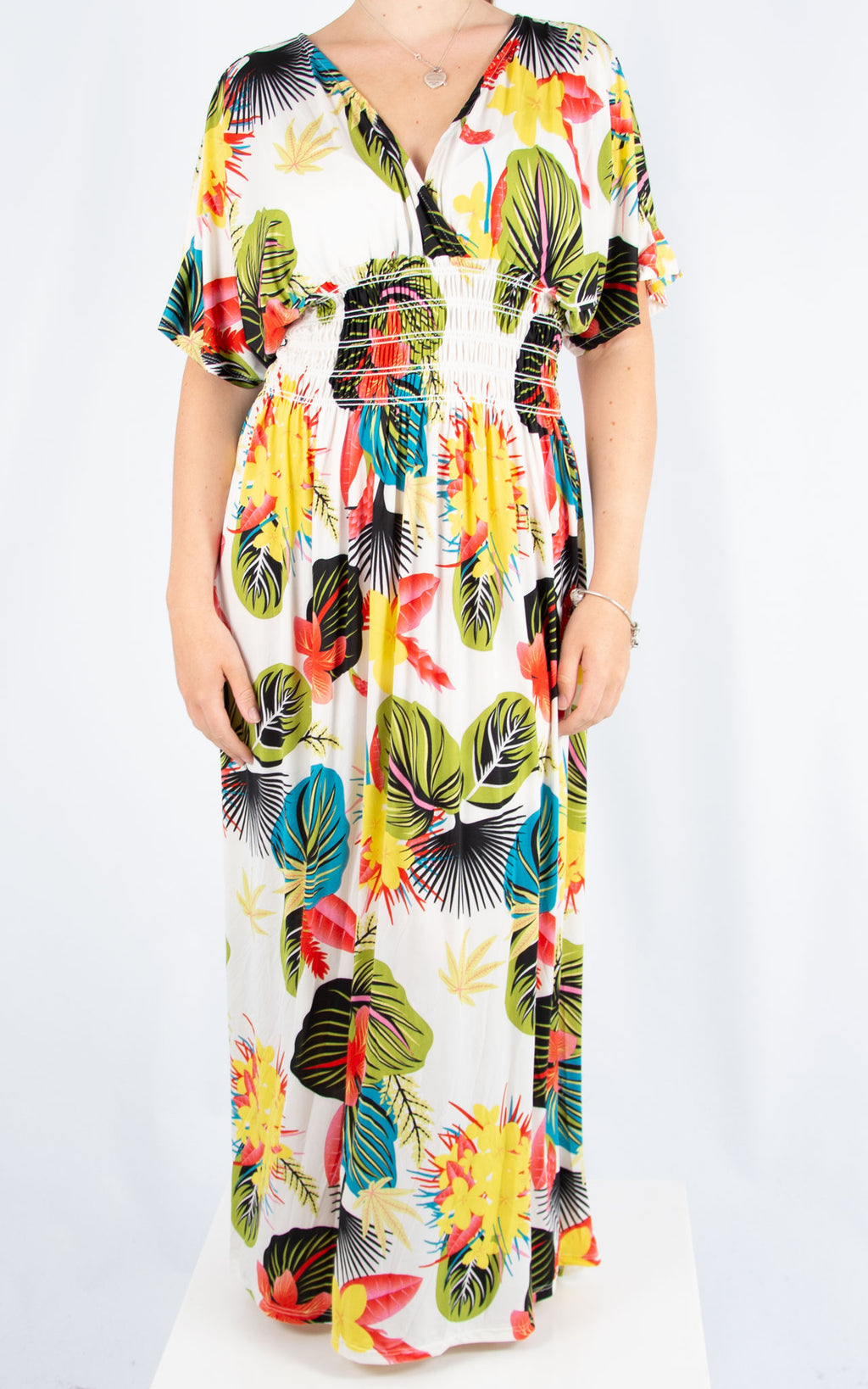 Ava Dress | White Tropical