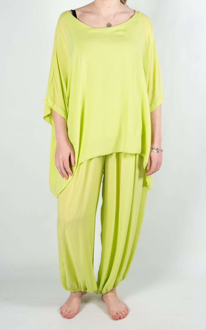 Bali Hareem Plain Set | Lime
