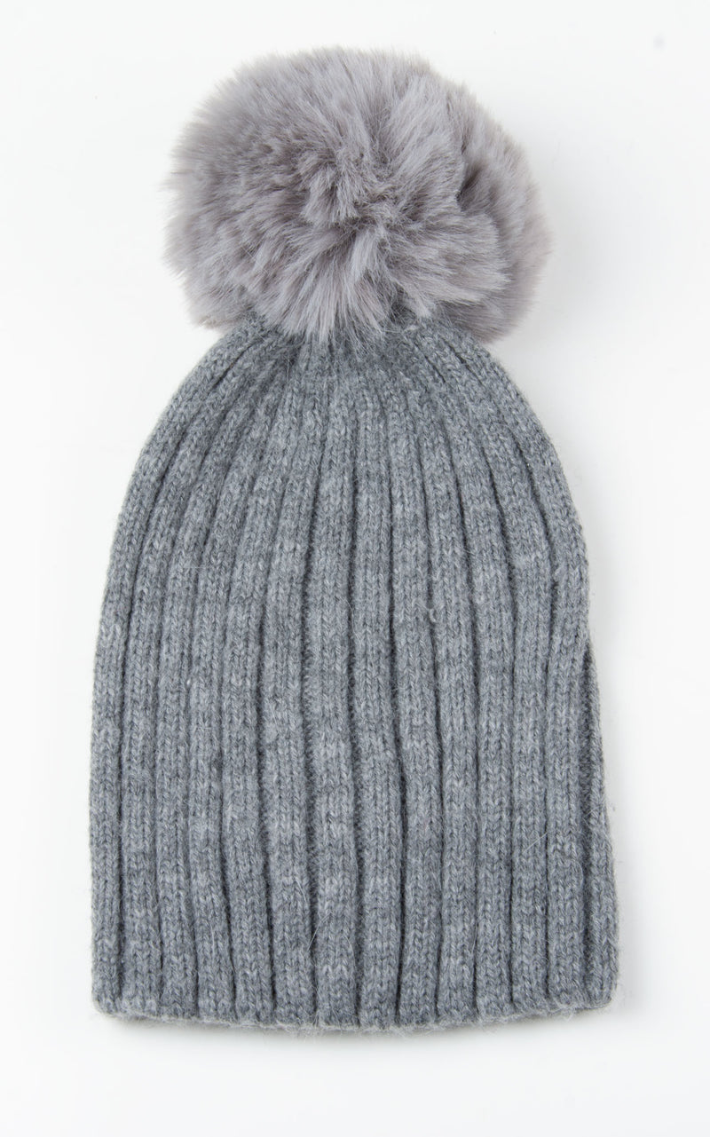 Basic Bobble Hat | Grey
