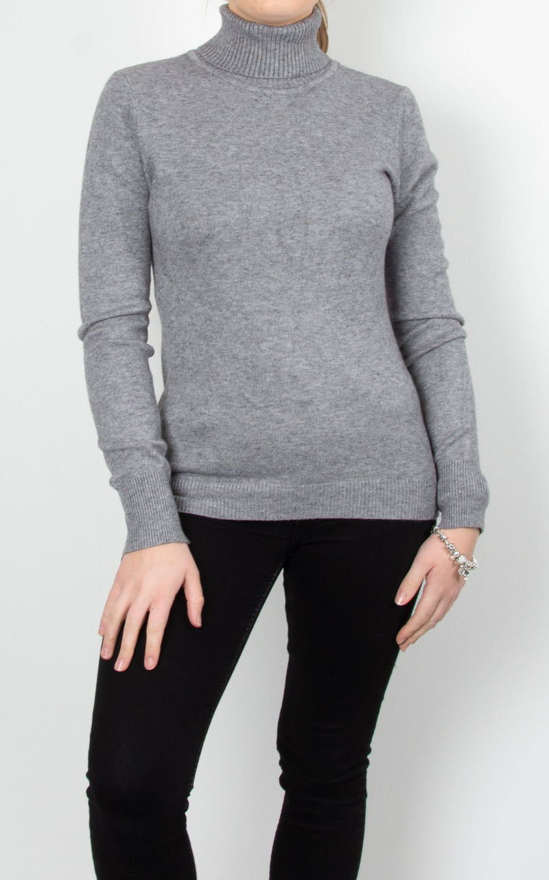 Basic Knit Roll Neck | Grey