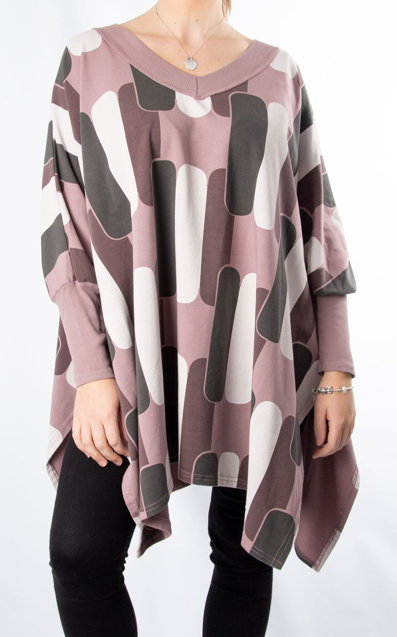 Batwing Side Split | Mauve