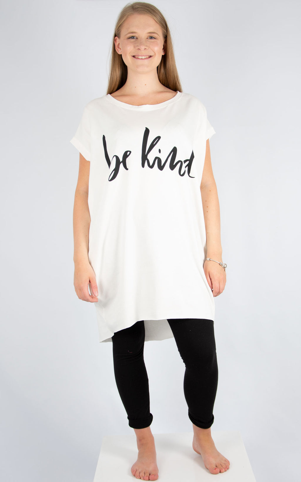 Rachel T | White Be Kind T