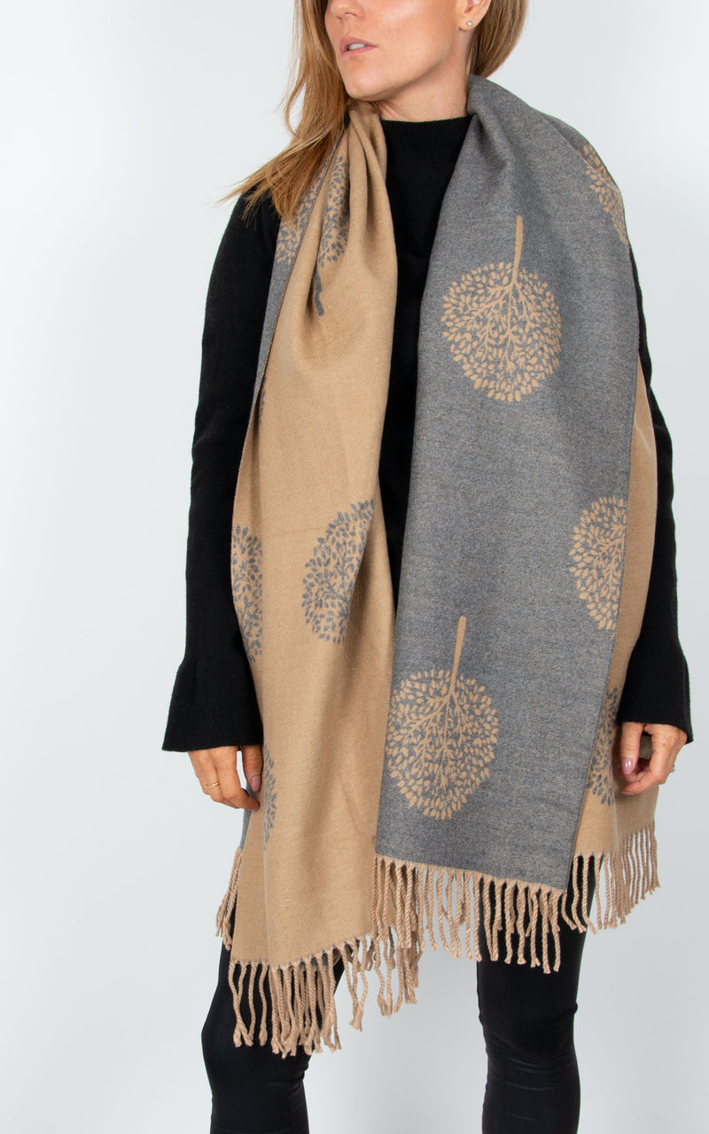 Beige Blanket Scarf - Mulberry Tree