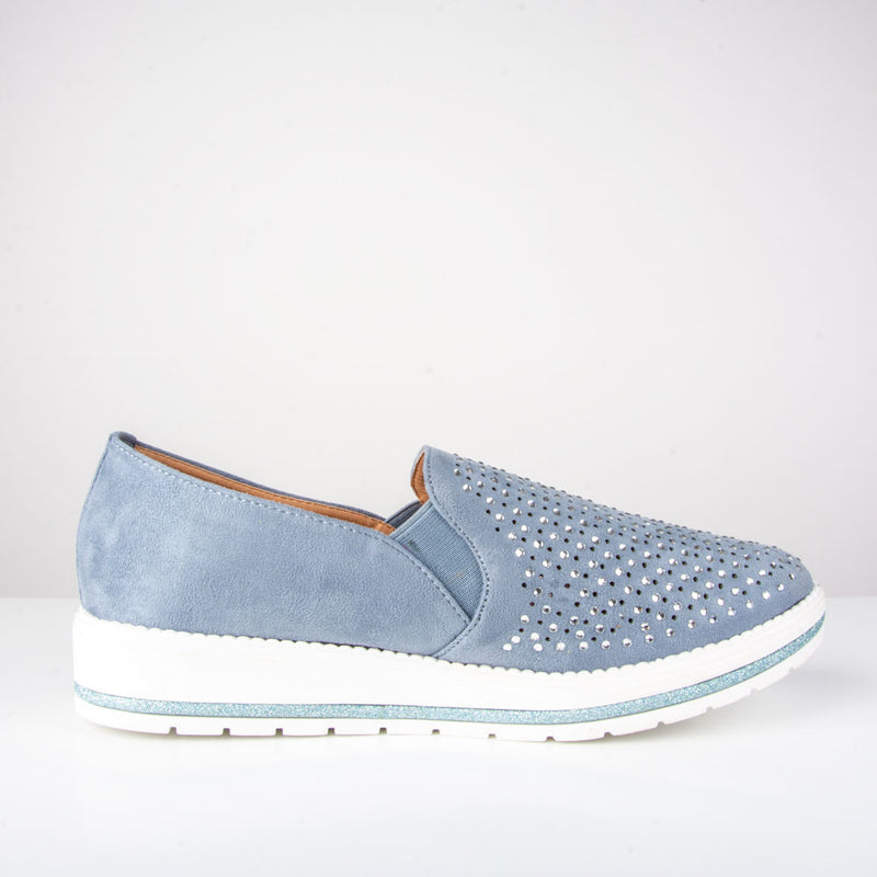 Shoes: Belle Trainer | Blue