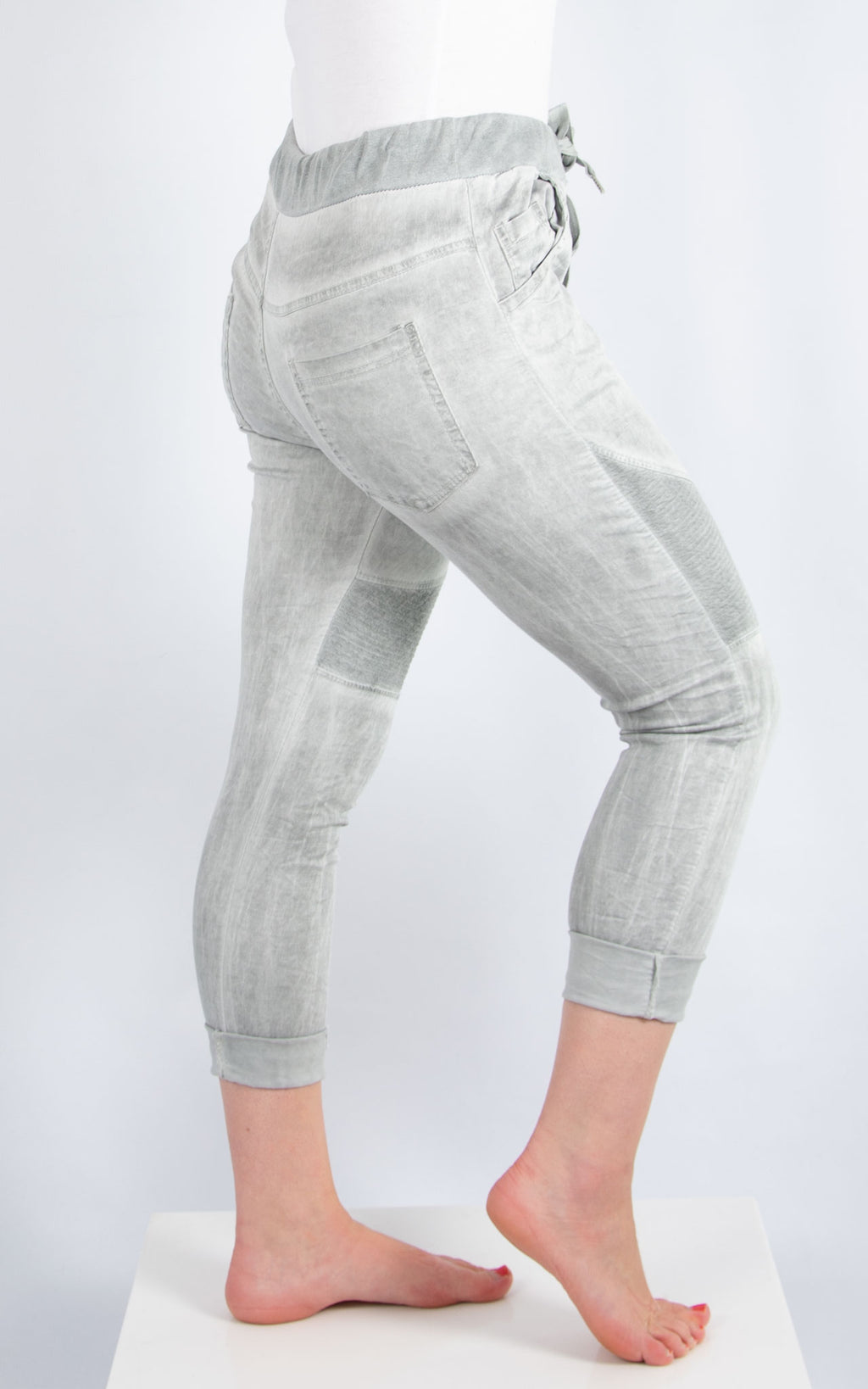 Grey Biker Joggers | Made in Italy