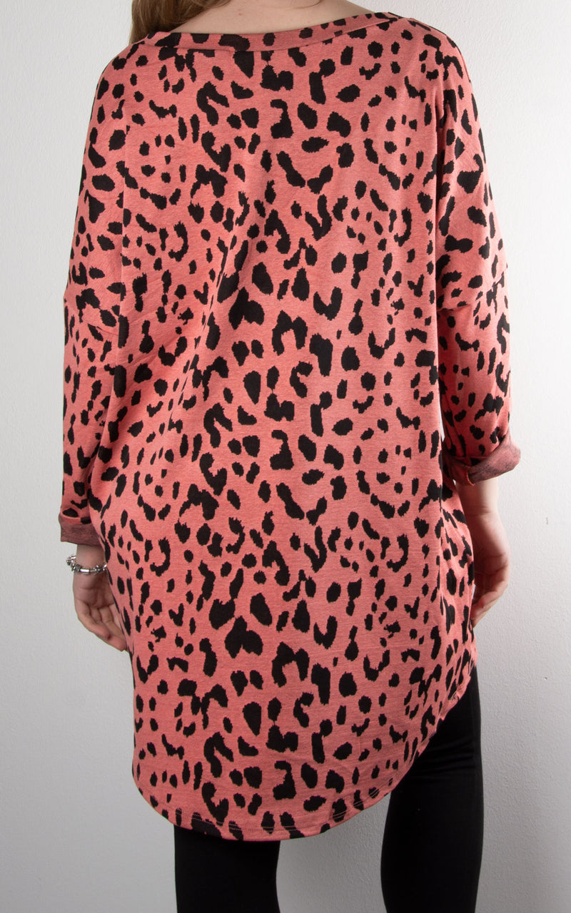 Billy Leopard Tunic | Coral