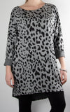Billy Leopard Tunic | Grey