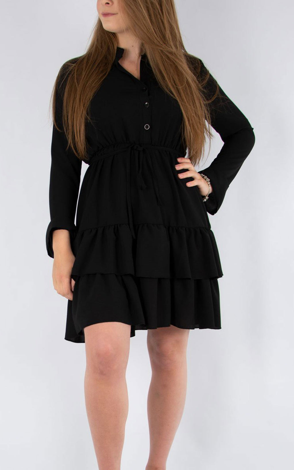 Plain Tea Dress | Black