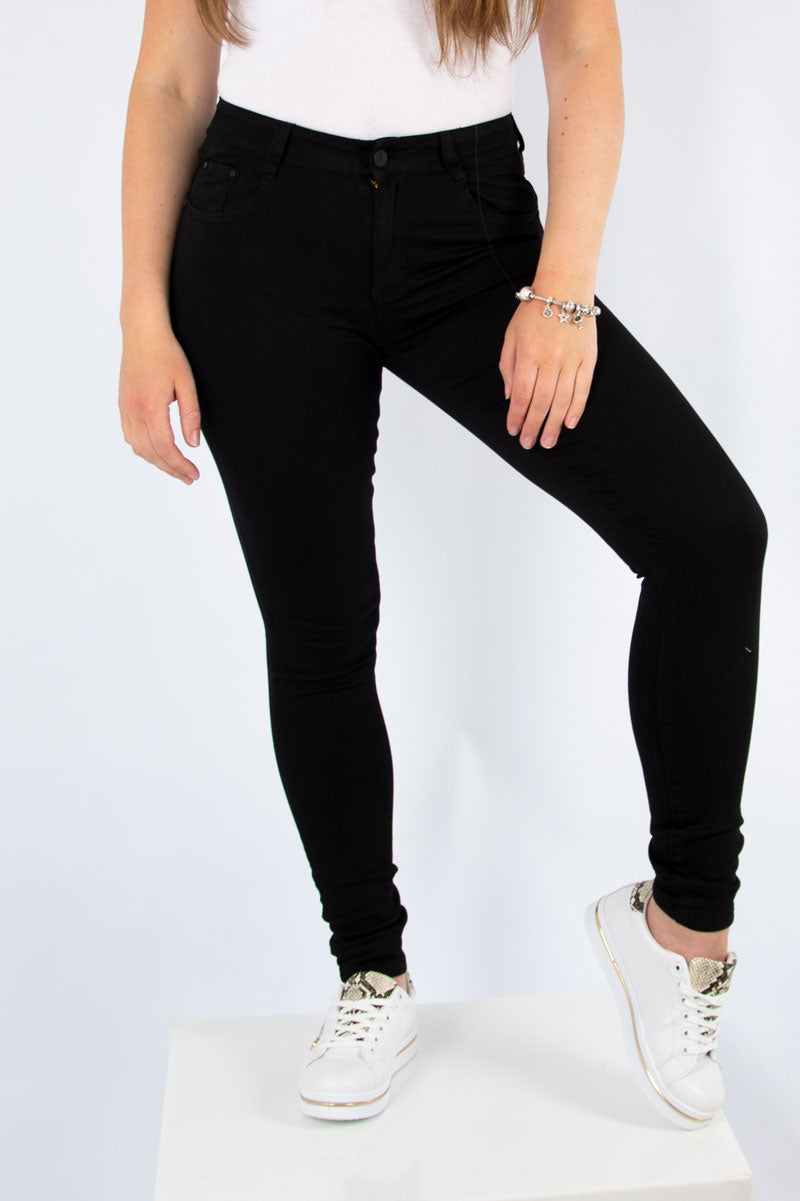 Low Rise Skinny Jeans | Black