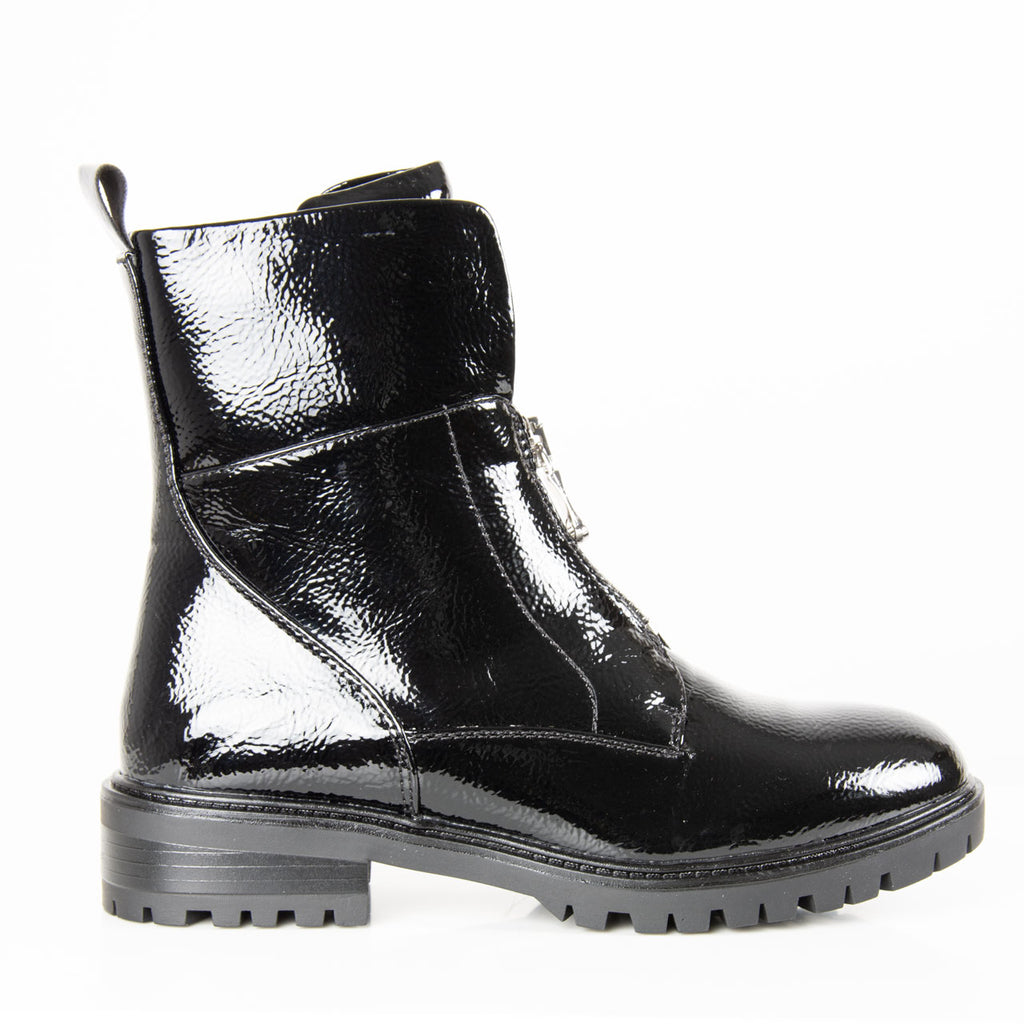 Boots | Harley Black Patent
