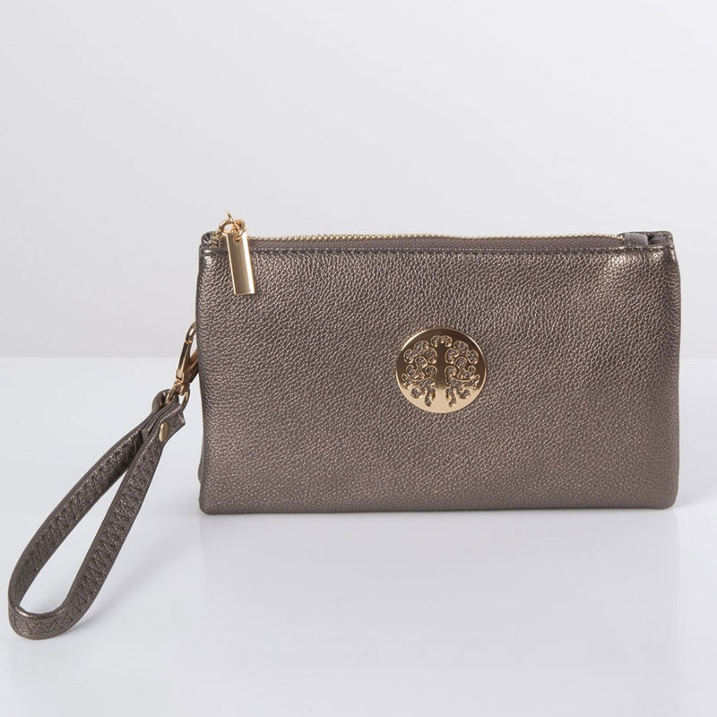 Clutch Bag | Toni | Silver Grey