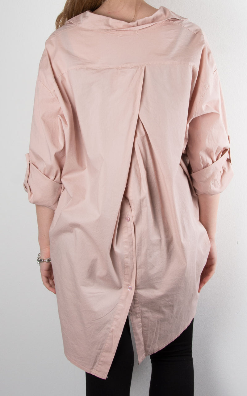 Button Back Shirt | Pink