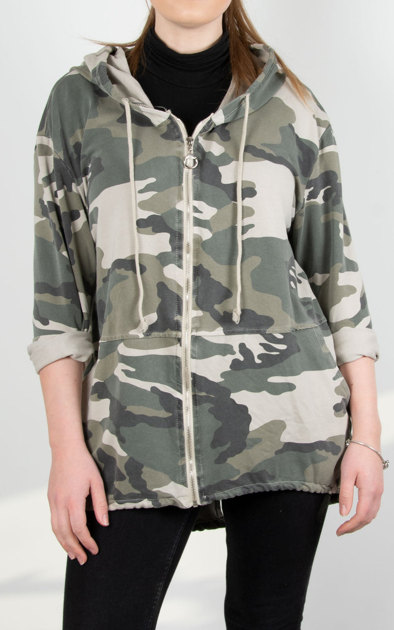 Camo Hooded Jacket