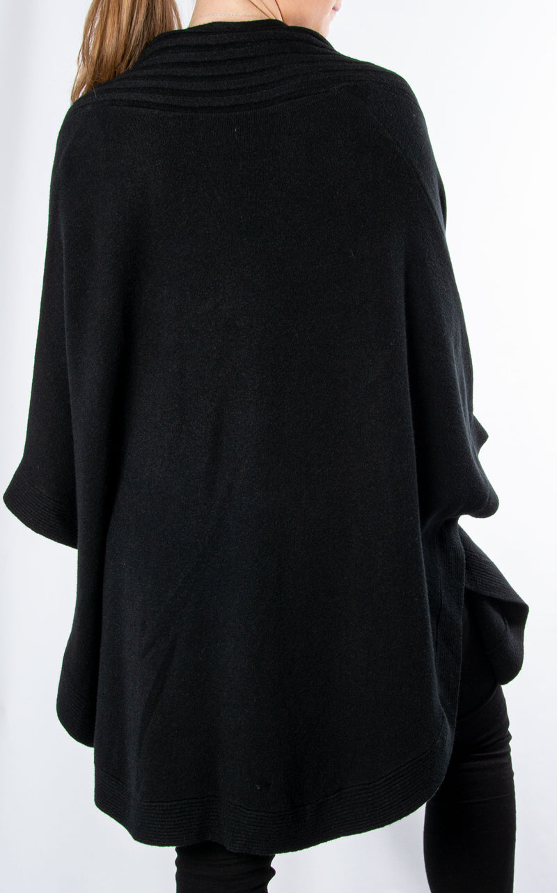 Cape Cardigan | Black