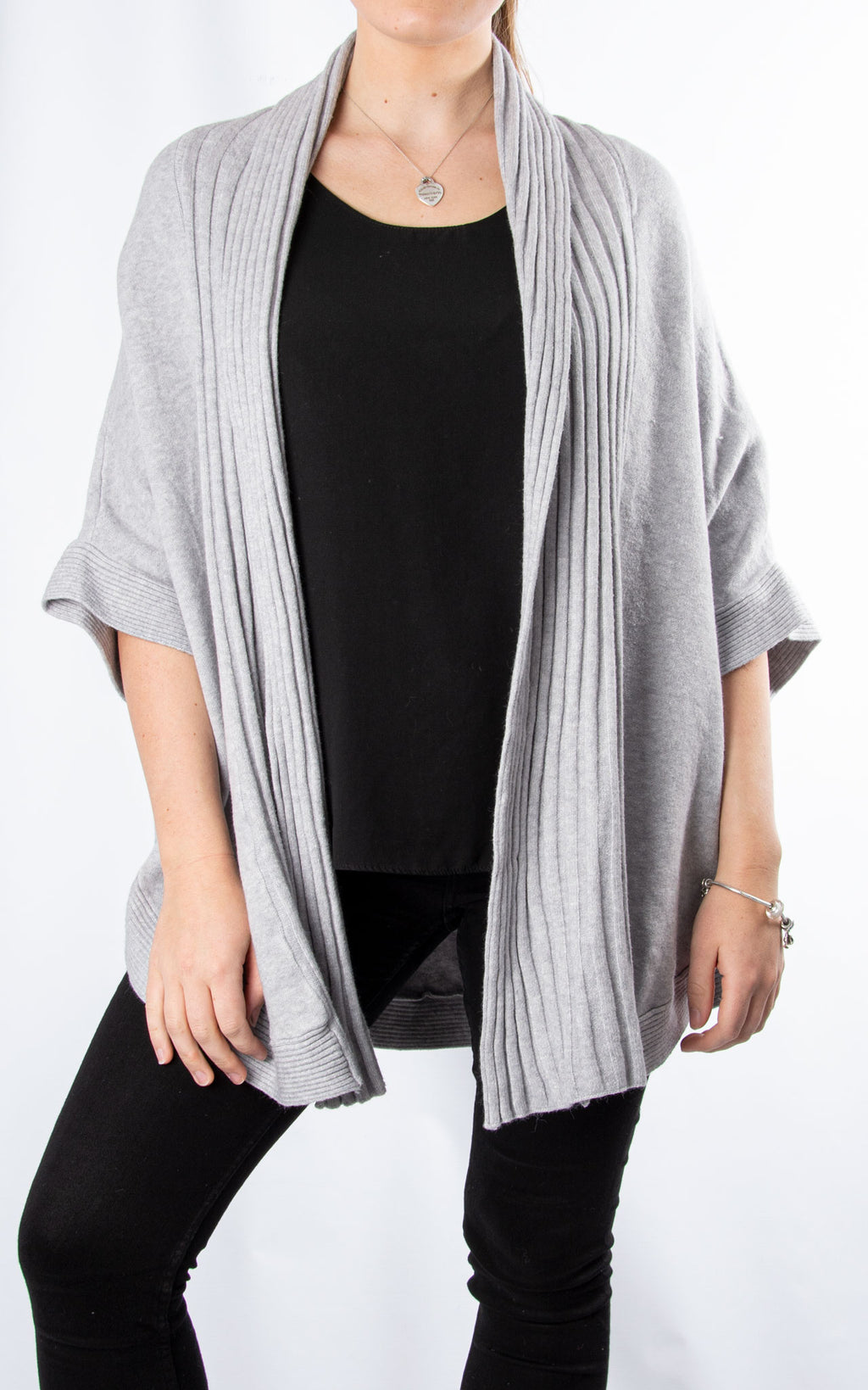 Cape Cardigan | Light Grey