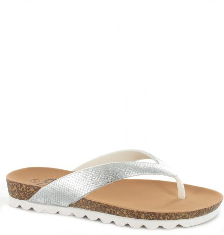 Carly Flip Flop | Silver
