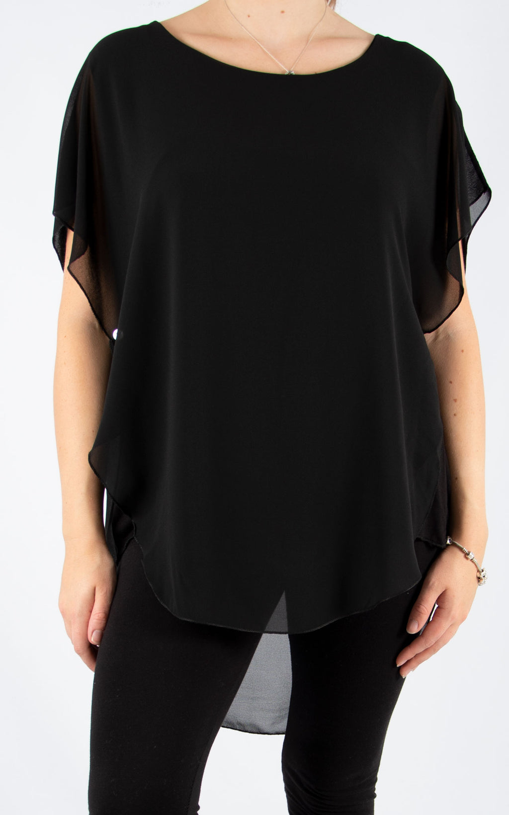 Black Carrie Button T | Made In Italy