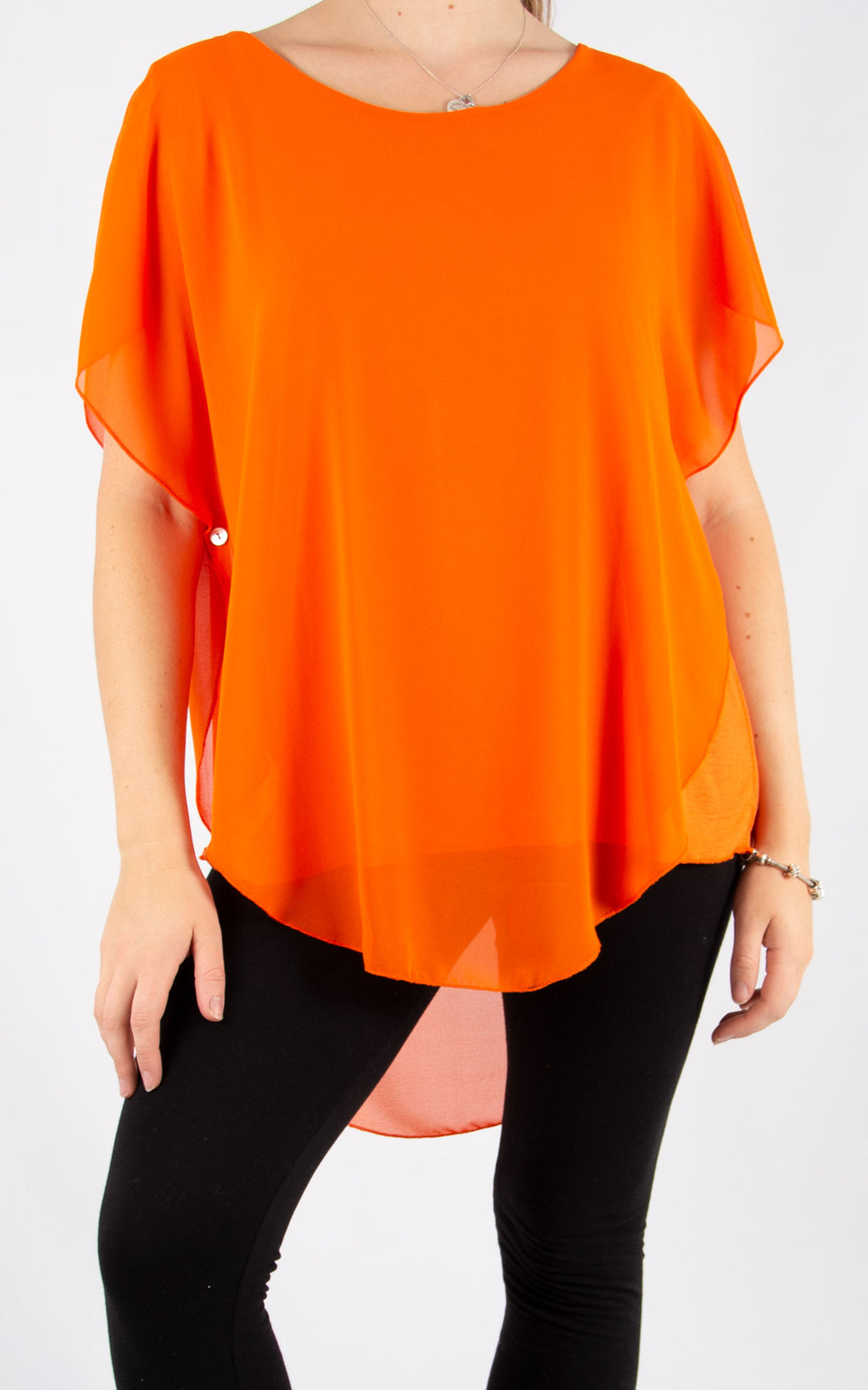 Orange Carrie Button T | Made In Italy