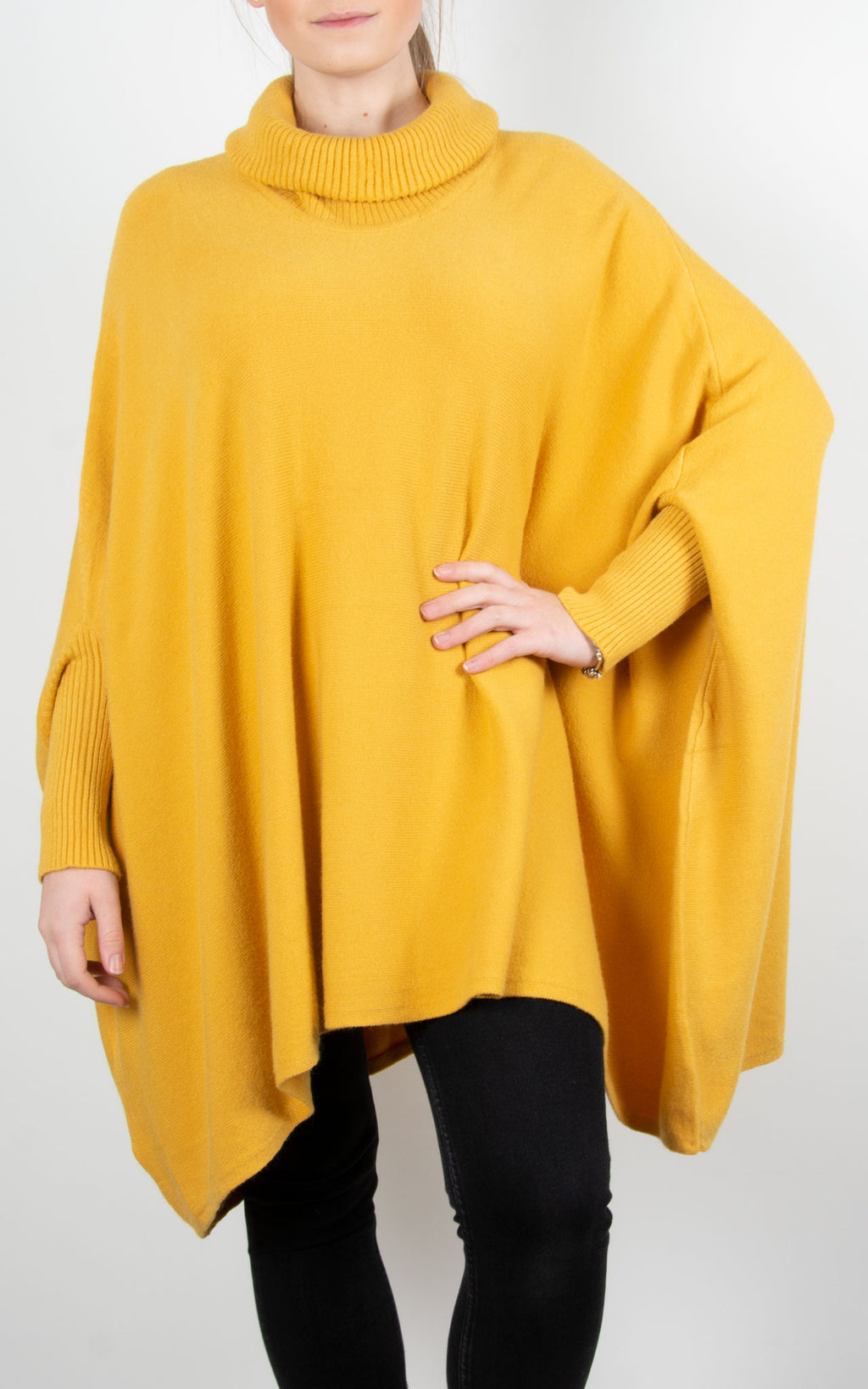 Charlotte Roll Neck | Yellow
