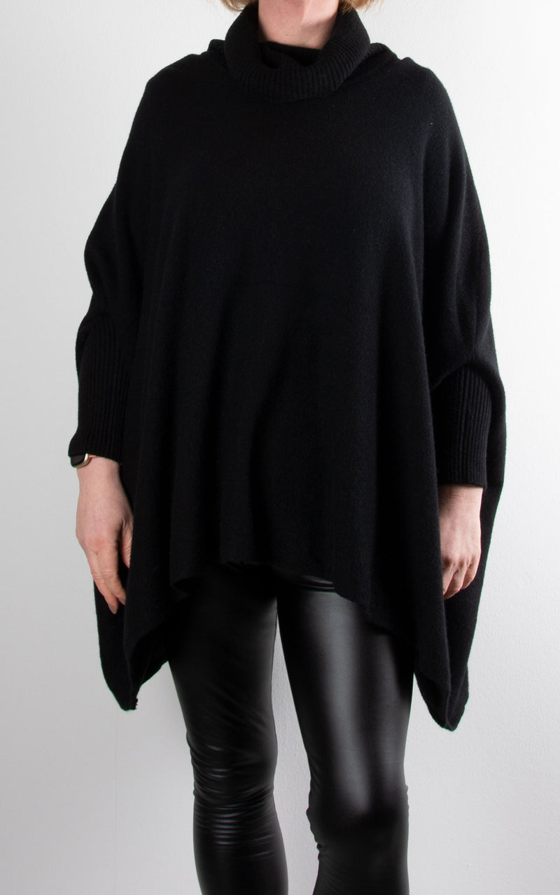 Charlotte Roll Neck | Black