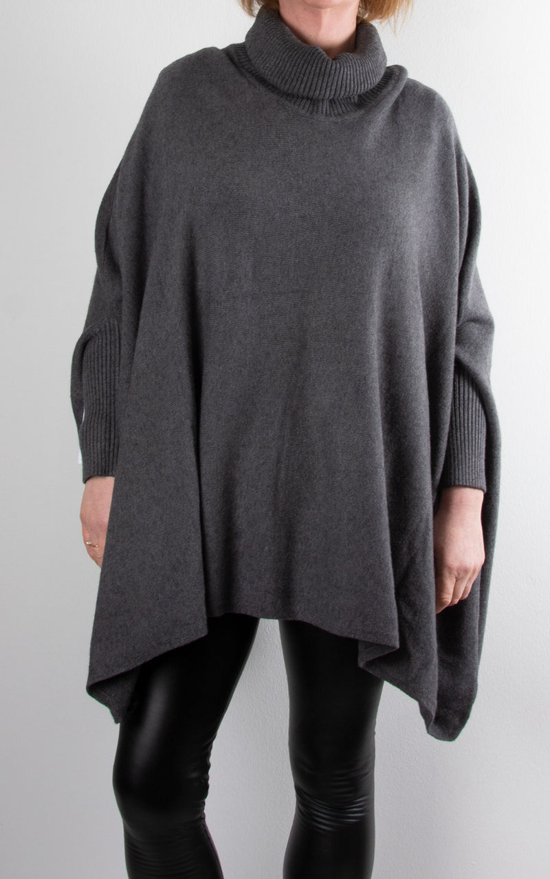 Charlotte Roll Neck | Charcoal