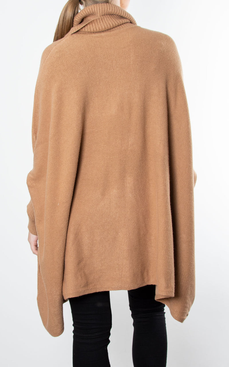 Charlotte Roll Neck | Camel