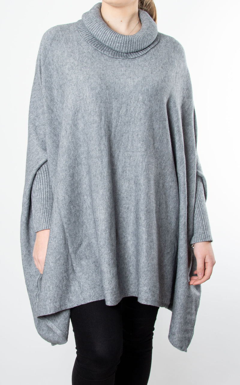 Charlotte Roll Neck | Grey