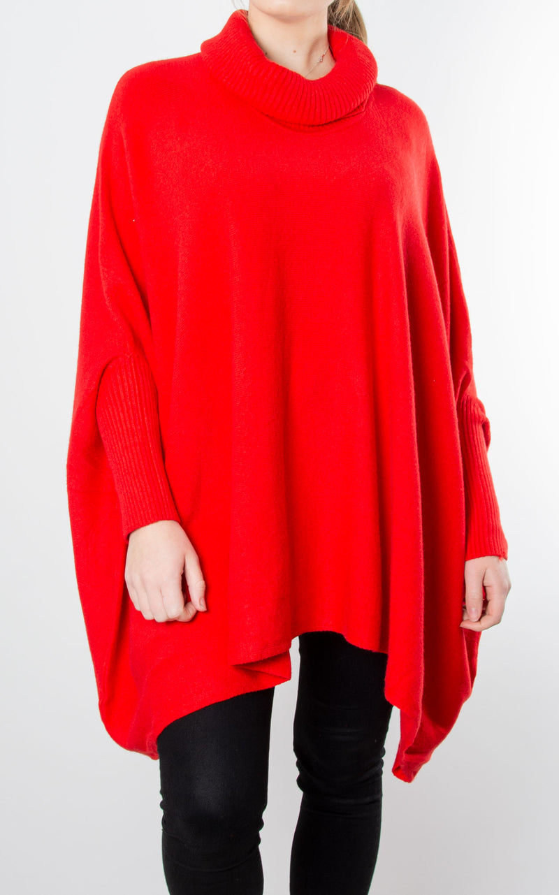 Charlotte Roll Neck | Red