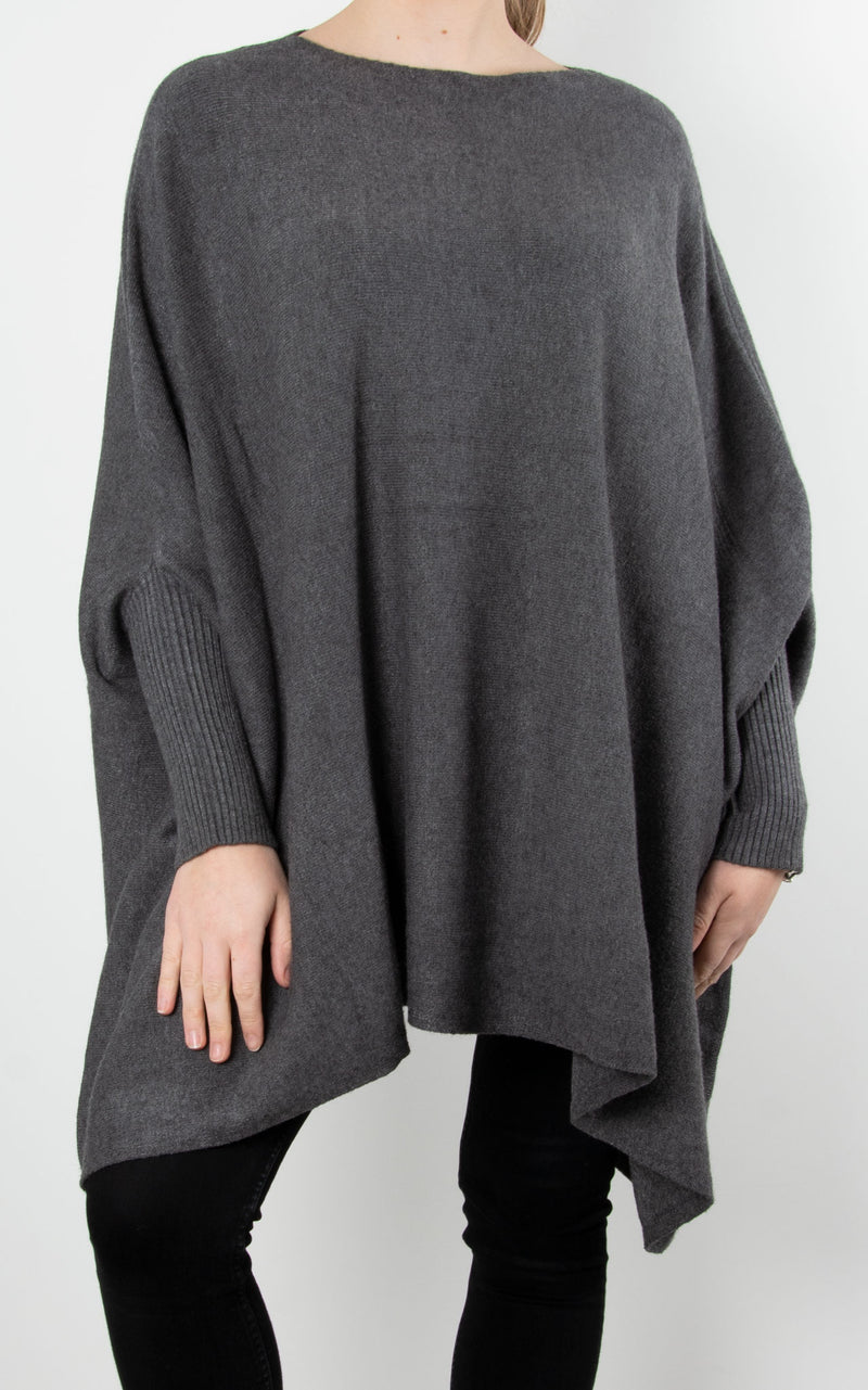 Charlotte Round Neck | Charcoal