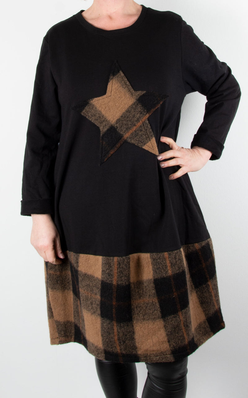 Check Star Tunic | Brown