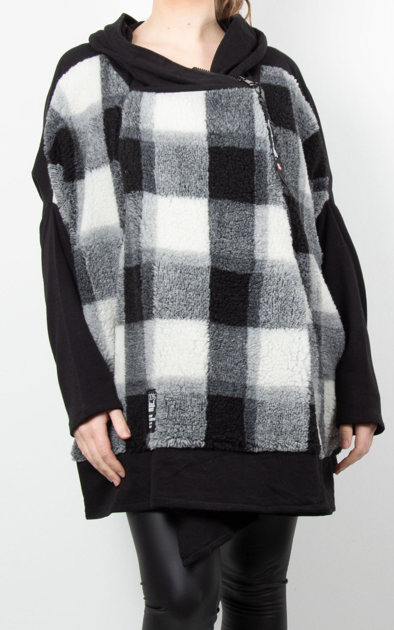 Jacket | Checked Fleece Jacket