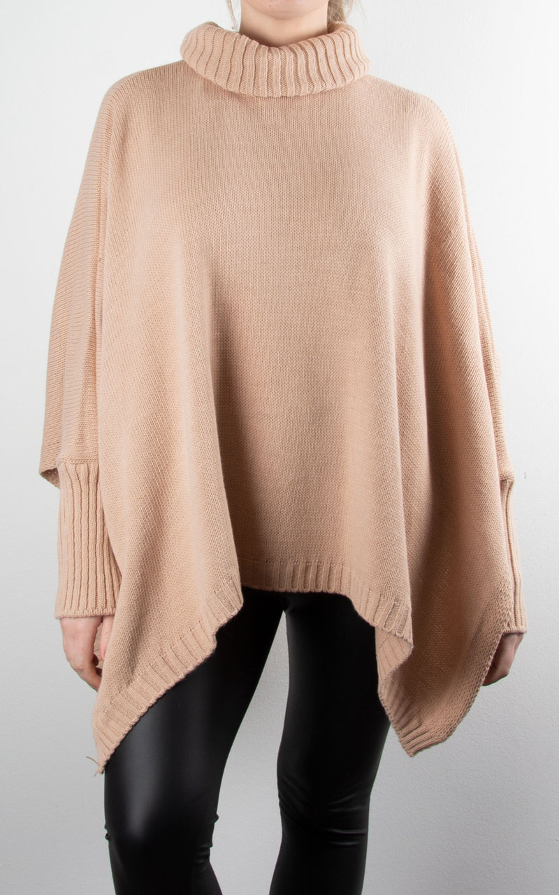 Chunky Knit Split | Pale Pink