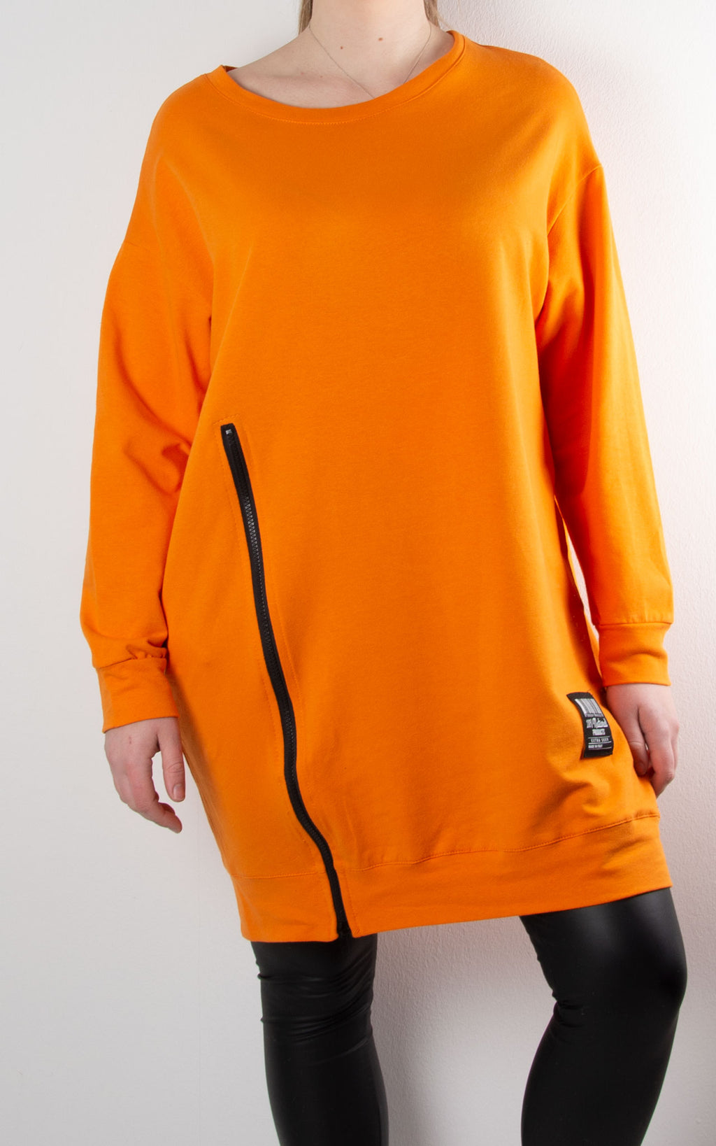 Claudia 1 Zip Sweat | Orange