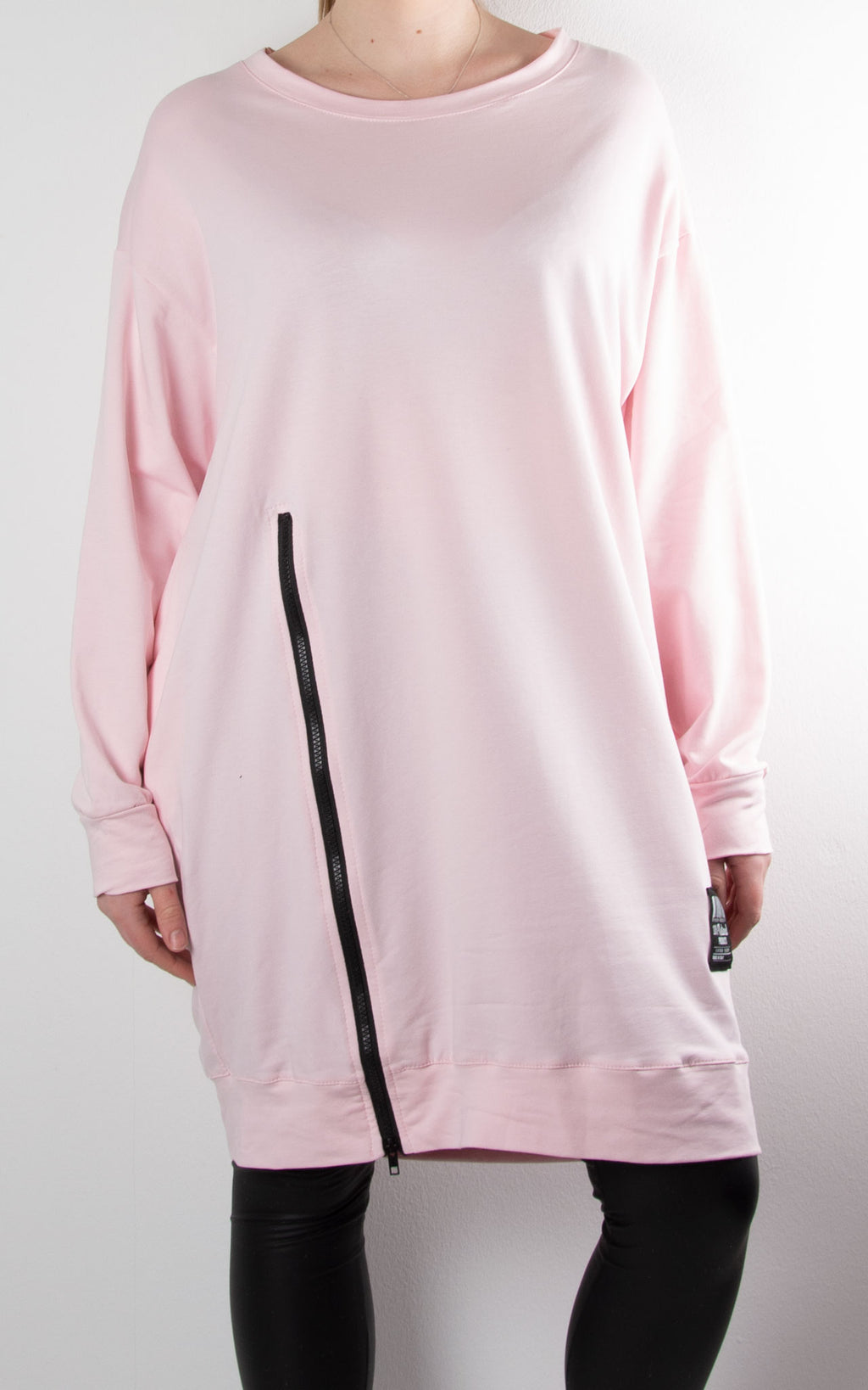 Claudia 1 Zip Sweat | Pink