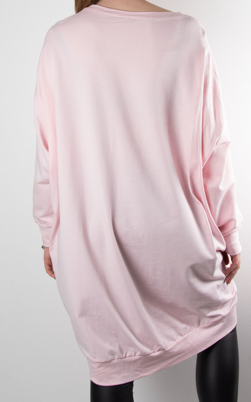 Claudia 2 Zip Sweat | Pink