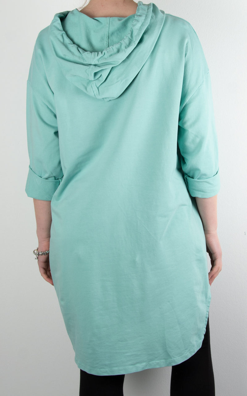 Claudia Paint Ring Zip Hoodie | Mint
