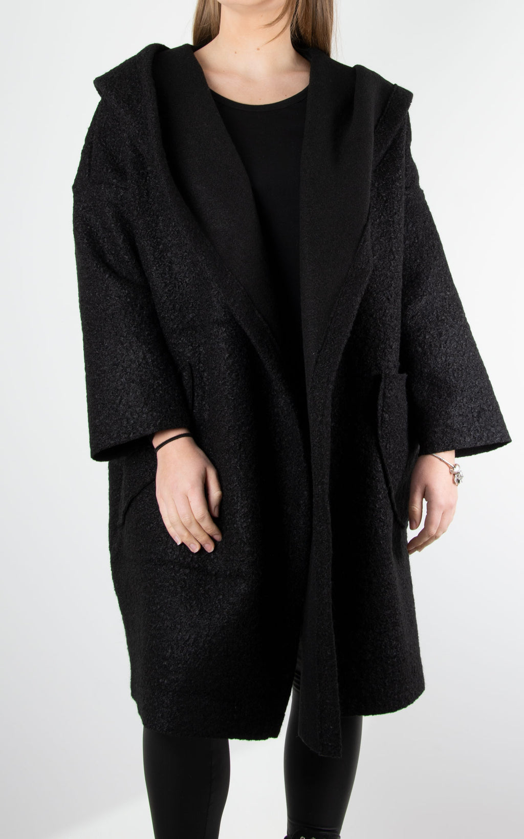 Coat One Button| Black