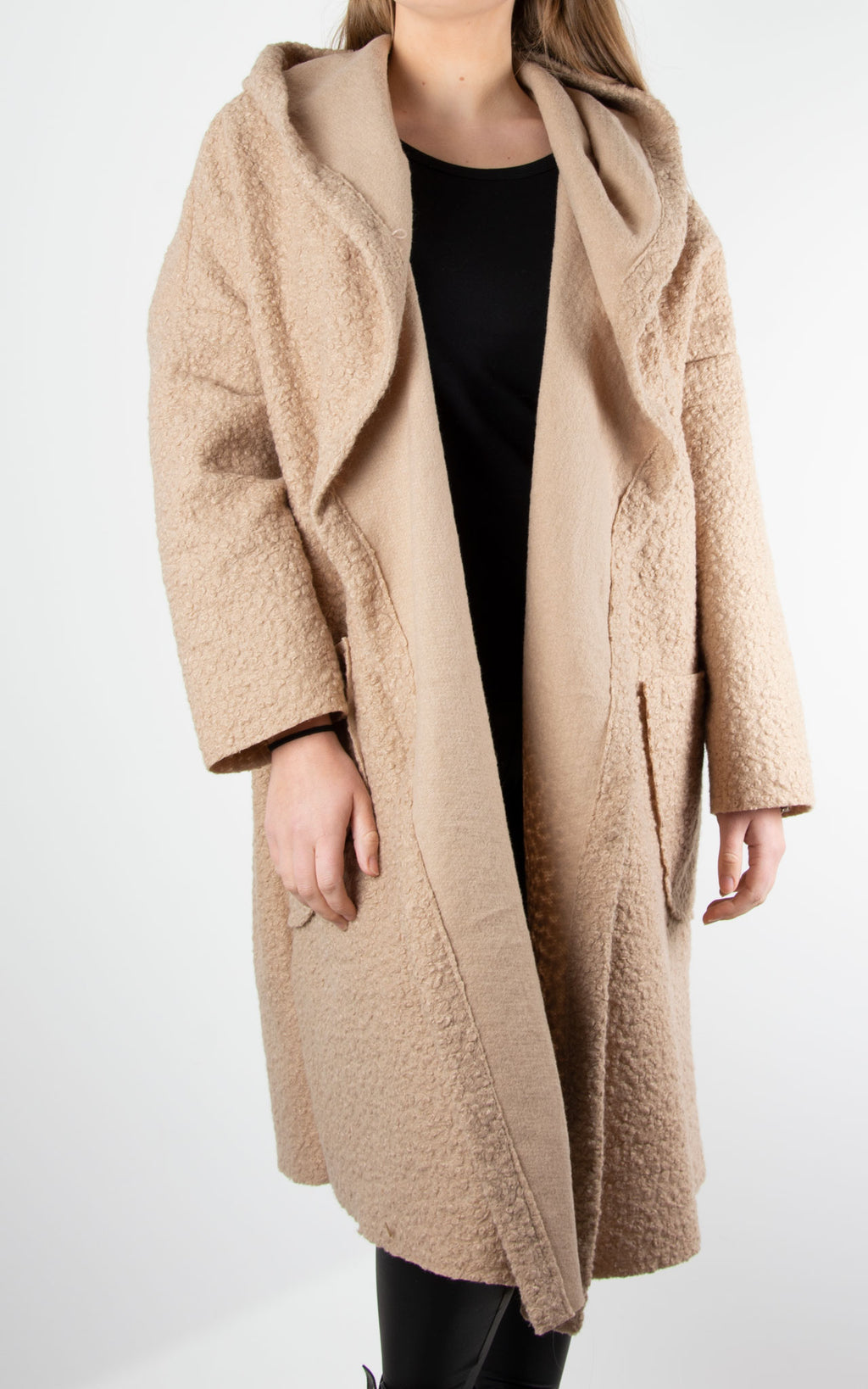 Coat One Button| Camel