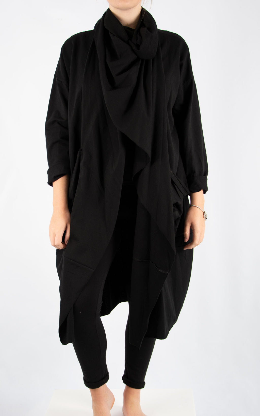 Black Cowl Neck Oversized Sweater
