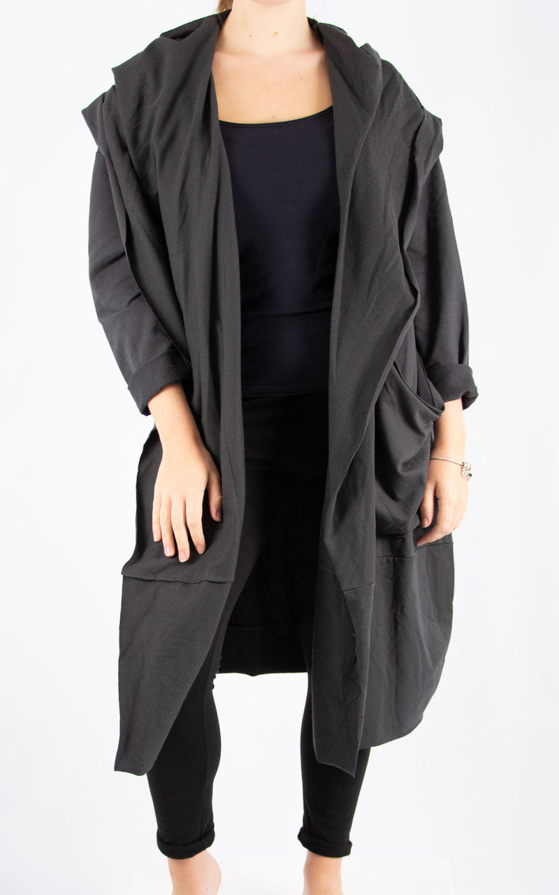 Charcoal Cowl Neck Oversized Sweater