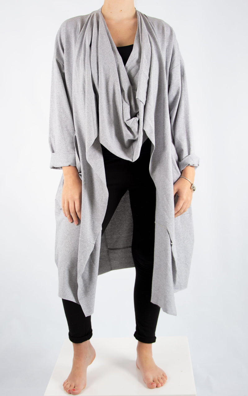 Grey Cowl Neck Oversized Sweater