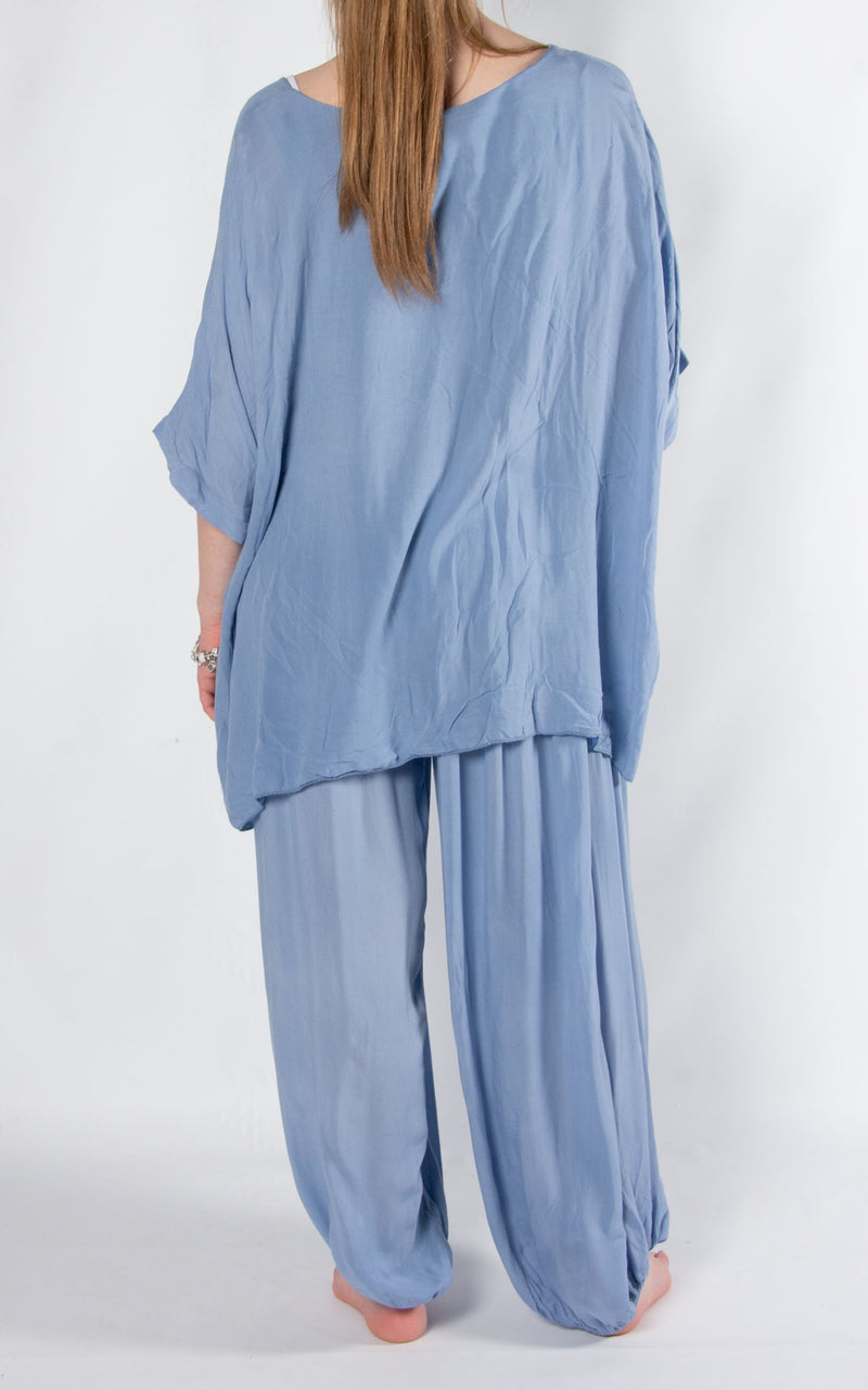 Bali Hareem Plain Set | Denim