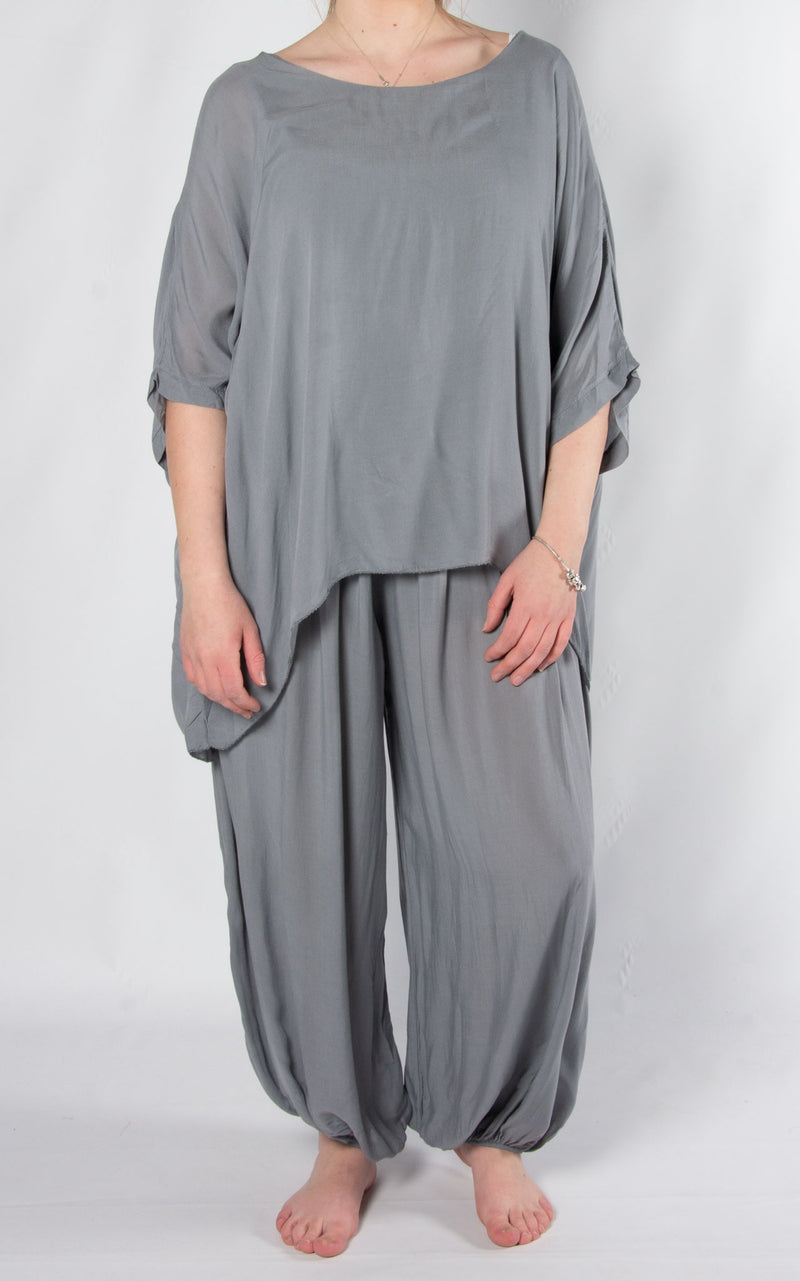 Bali Hareem Plain Set | Grey