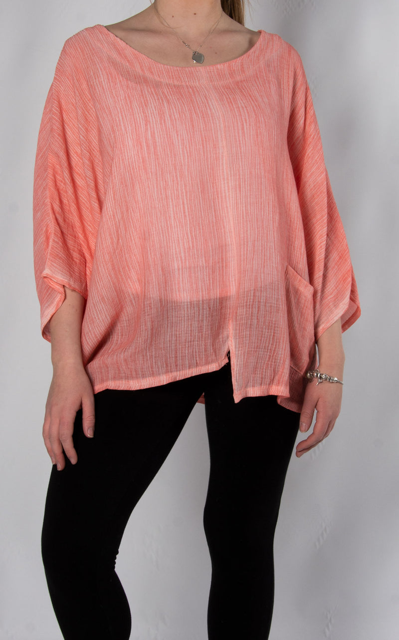 India Top | Coral