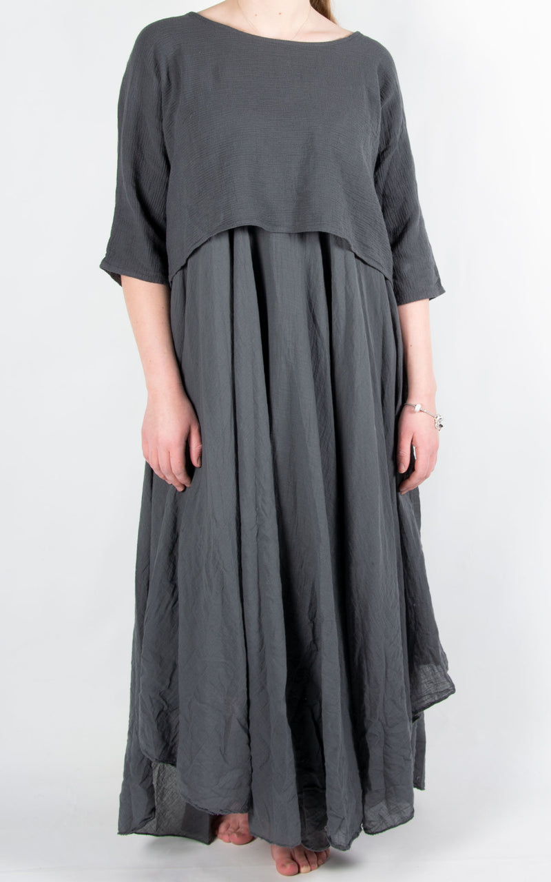 Floss Layered Dress | Charcoal