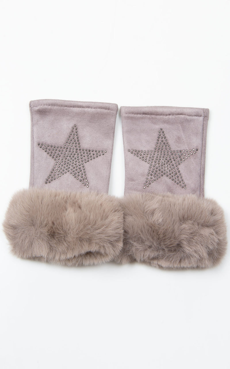 Fingerless Star Gloves | Taupe