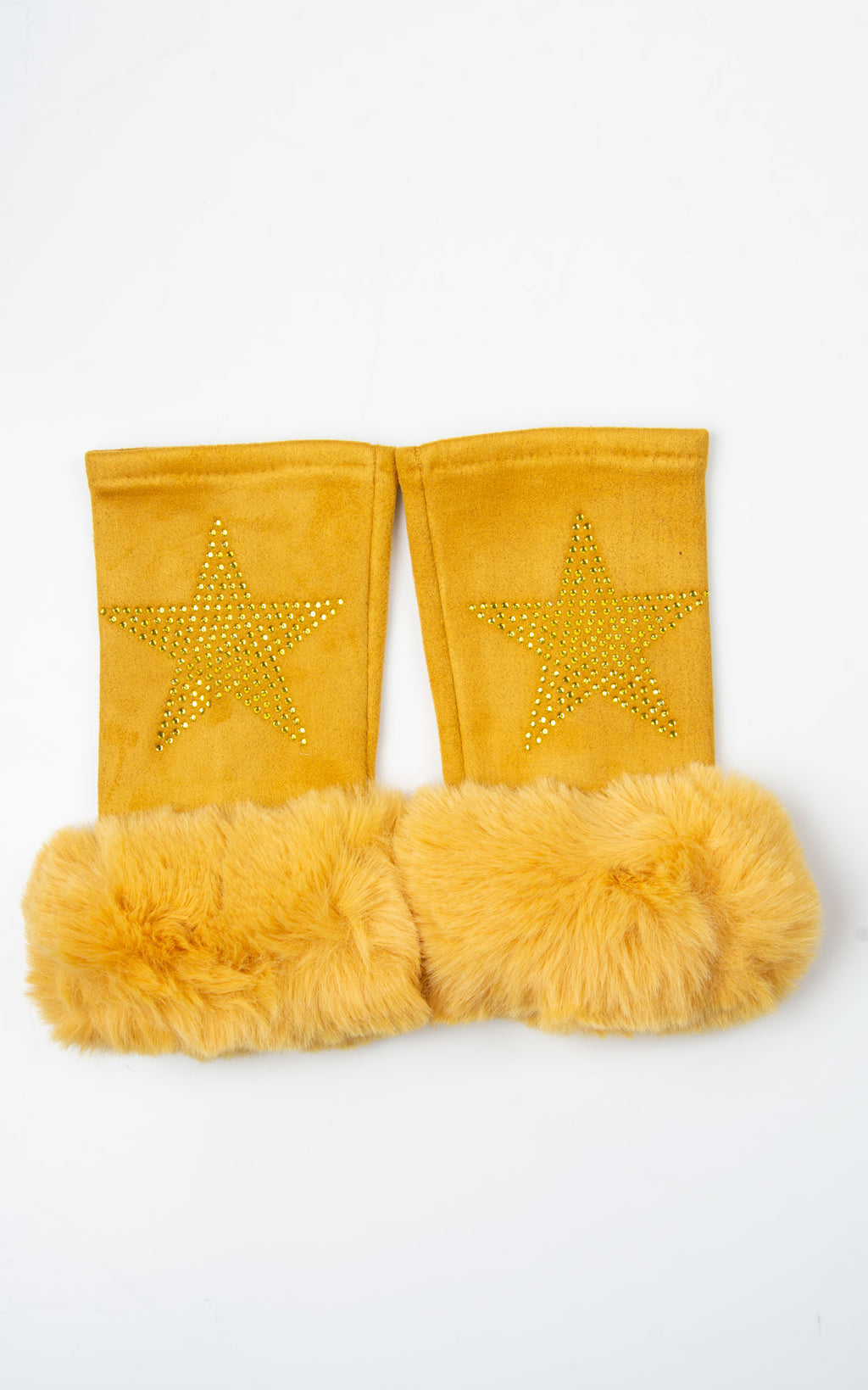 Fingerless Star Gloves | Mustard