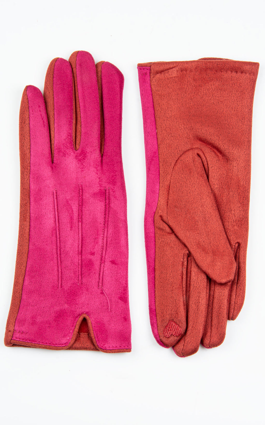 Gloves:Two Tone | Fuschia\Red