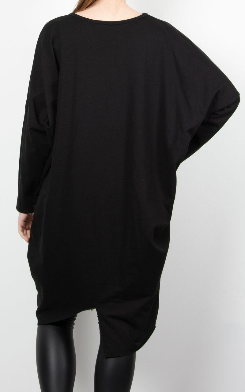 Jersey Pocket Tunic | Black