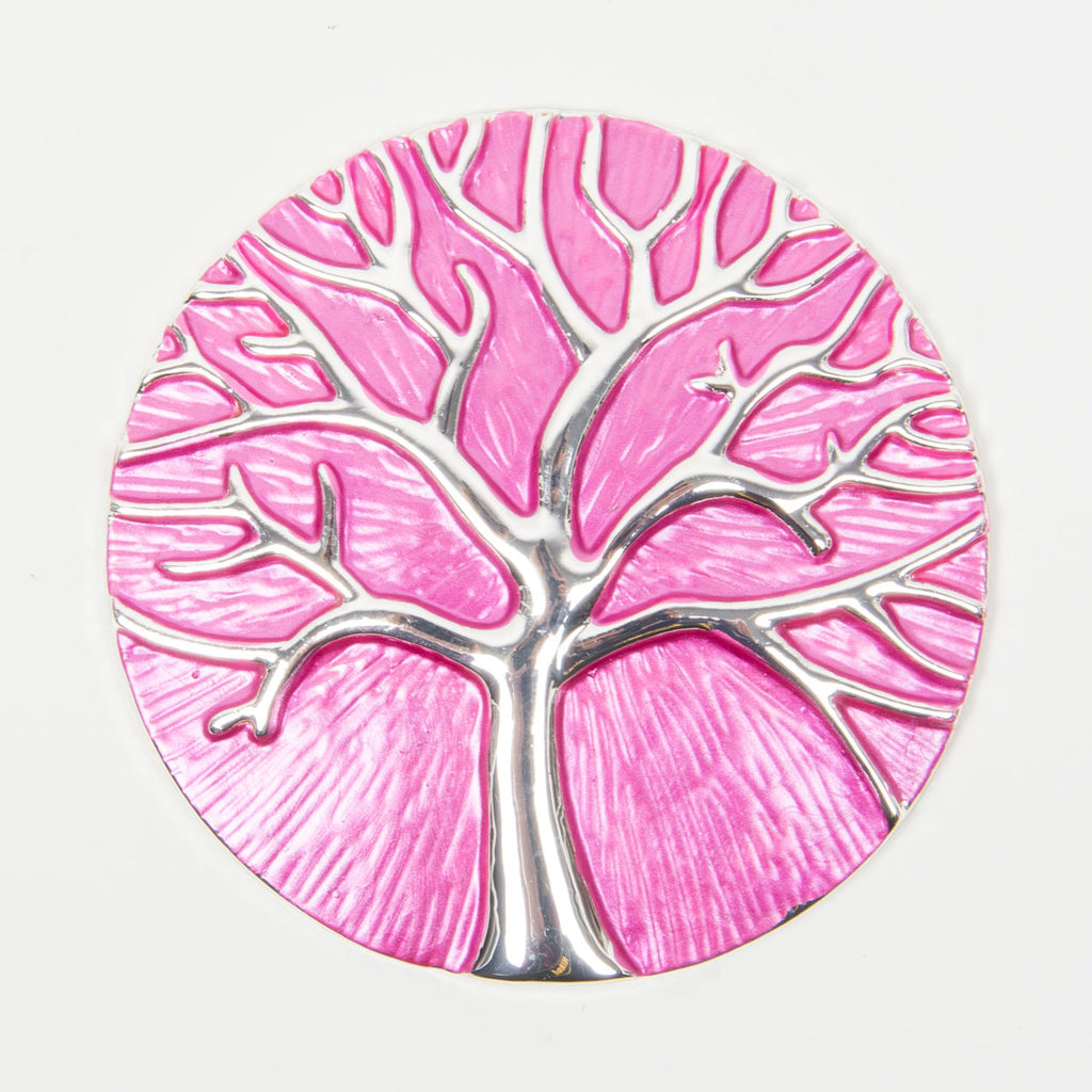 Brooch | Tree of Life |  Hot Pink